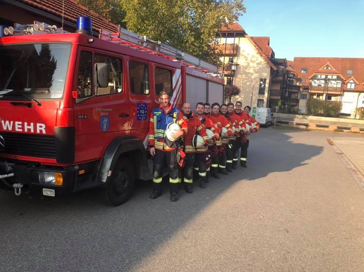 Herbstabschlussübung in Bötzingen.